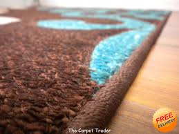 viola 2366k brown cream turquoise rug available in two