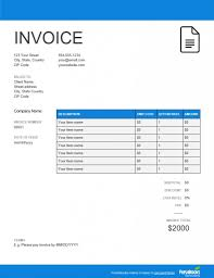 Contractor Invoice Template Google Docs Templates Word Resume Free