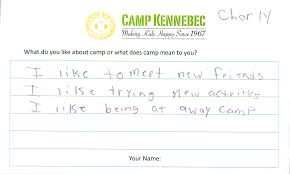 camper testimonials in their own words camp kennebec