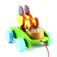wooden pull cart pull cart for kids 1 wooden early learning educational en to eat car