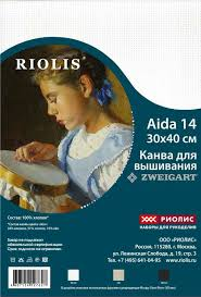 <b>Канва Zweigart 3706</b>/100 <b>Stern</b>-Aida 14 размер 30х40 см цвет ...