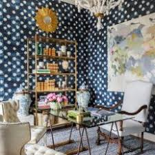 indigo home office. Indigo Home Office. Rich Wallpaper And Sunburst Mirror Set Heavenly Tone In Office T