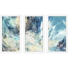 feeling blue framed plexiglass wall art set  on framed blue wall art set with shop feeling blue framed plexiglass wall art set of 3 on sale