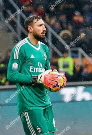 AC Milan goalkeeper Antonio Donnarumma controls ball ...