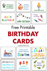 Birthday ecards are able to be personalized with a message from you and sent to your loved one's email. Free Printable Birthday Cards Rose Clearfield