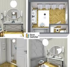 bathroom interior design sketches. RoomSketcher-Bathroom-Design-Ideas-in-3D Bathroom Interior Design Sketches L