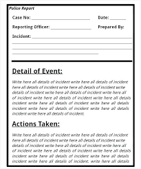 incident report example home a business template wonderful incident report for ms word