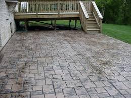stamped concrete patio cost canada