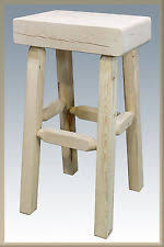 unfinished bar stools. Unfinished Wood Bar Stools Rustic Pine Farmhouse Barstool Amish Lodge Cabin T