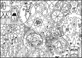 Small Picture Get This Free Trippy Coloring Pages to Print for Adults pk2v4