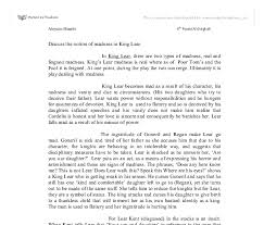 madness in king lear essay homework service  madness in king lear essay