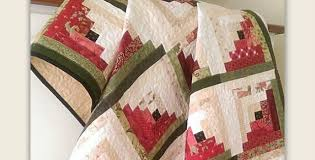 Watermelon Colors Shine in This Quilt - Quilting Digest & Watermelon Log Cabin Quilt Adamdwight.com