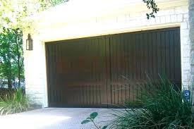 wood stained garage doors dark garage doors dark walnut stain on custom wood garage door downtown