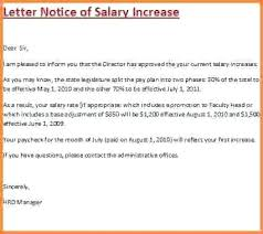 Salary Letters From Employer Salary Increase Letter Template Employer Wonderful From Raise Within