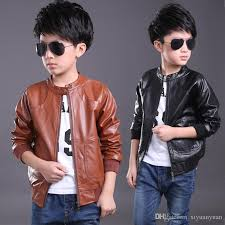 children pu leather motorcycle jacket kids outwear children cool coat baby boy clothes leather jackets zipper boys pu jackets kids black jacket for boys