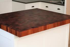 mahogany butcherblock is 2 1 2 inches thick