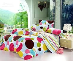polka dot duvet cover navy blue pink cot single
