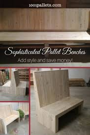 furniture made of pallets. Sophisticated Pallet Bench Set Adds Beauty To Your Patio Furniture Made Of Pallets