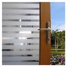 glass office front door. Practical PVC Static Cling White Frost Stripe Decorative Home Office Front Door Translucent Glass Window Film Y