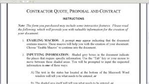 Contract Proposal Template Free Fascinating Proposal Contract Proposal Template