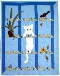 Cat In The Window Quilt Pattern At Bonnet Girls Christmas Cat ... & Cat In The Window Quilt Pattern At Bonnet Girls Christmas Cat Quilt Patterns  Free Cat Quilt Adamdwight.com