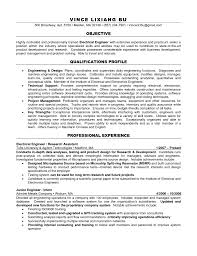 Technical Objective For Resume Objectiveent For Engineering Resume Electrical Sampleents Resumes 1