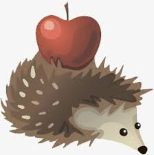 Image result for hedgehog apple