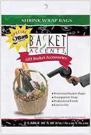 basket accents shrink wrap bags large 30x30