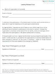 Liability Waiver Template Stunning Free Standard Release Of Liability Form Waiver Template Uk Photo