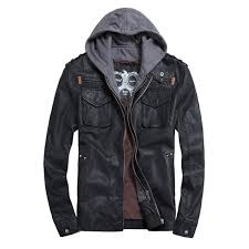 thooo brand mens pu leather jackets hoo jacket for mens good quality faux leather business outwwaer drop ship leather womens coats fleece leather jacket