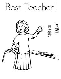 teaching in front of class in community helpers coloring page   netartteaching in front of class in community helpers coloring page