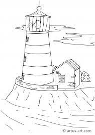 Leuchttürme sind verführerisch und mystisch mit einem gewissen sinn für größe und oft. Leuchtturm Ausmalbild Gratis Ausdrucken Ausmalen Artus Art