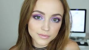 iridescent purple and blue easy eye makeup for green eyes makeup tutorials guide