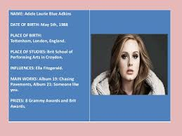 powerpoint biography biography adele