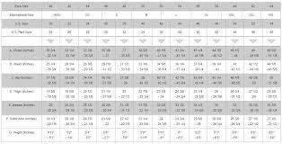 Measurements Mens Suits Chart Size Charts Saferacer