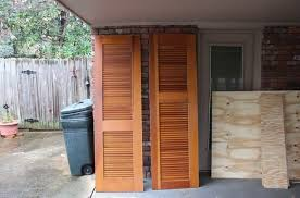 unfinished louvered door picture