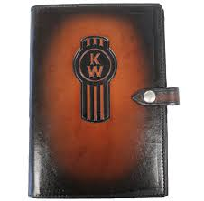 kenworth leather log book cover