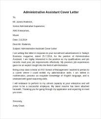 Administrative Assistant Cover Letter Template Unconventional Photo