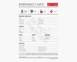 Emergency Contact Info Sheet Contact Information For Nanny Babysitter Instant Download Printable Fillable Pdf Form