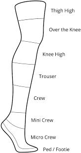 Sock Length Chart Sock Lengths The Sock Drawer