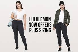 Lululemon Australia Size Chart Lululemon Now Offers Plus Sizes Online And In Store