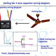 wiring diagram 4 wire ceiling fan capacitor wiring diagram motor 3 speed pull chain switch wiring diagram at 4 Wire Ceiling Fan Switch Wiring Diagram