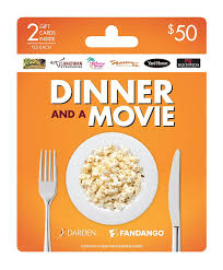 fandango. amazon.com: darden-fangango dinner and a movie, holiday multipack of 2 - $25: gift cards fandango s