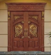 wooden door design. Wooden Double Door Designs, New Design Leaf Wood Interior R