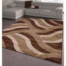 city collection brown waves 5 ft x 7 ft indoor area rug