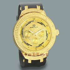 mens sport watches mens watches yellow gold super techno mens diamond watches yellow gold tone
