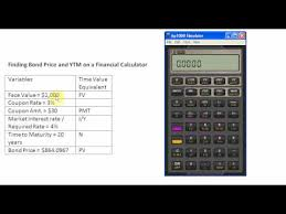 Finding Bond Price And Ytm On A Financial Calculator Youtube