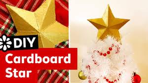 Creative christmas tree toppers ideas try Christmas Decorations Diy 3d Cardboard Star Christmas Tree Topper Sea Lemon Youtube Diy 3d Cardboard Star Christmas Tree Topper Sea Lemon Youtube