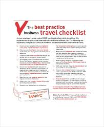 Business Trip Checklist Template Haven Nurul Amal