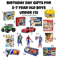 Birthday gift guide for 5-7 year old boys all under $15. Gifts Year Old Boys Under $15 - The Resourceful Mama